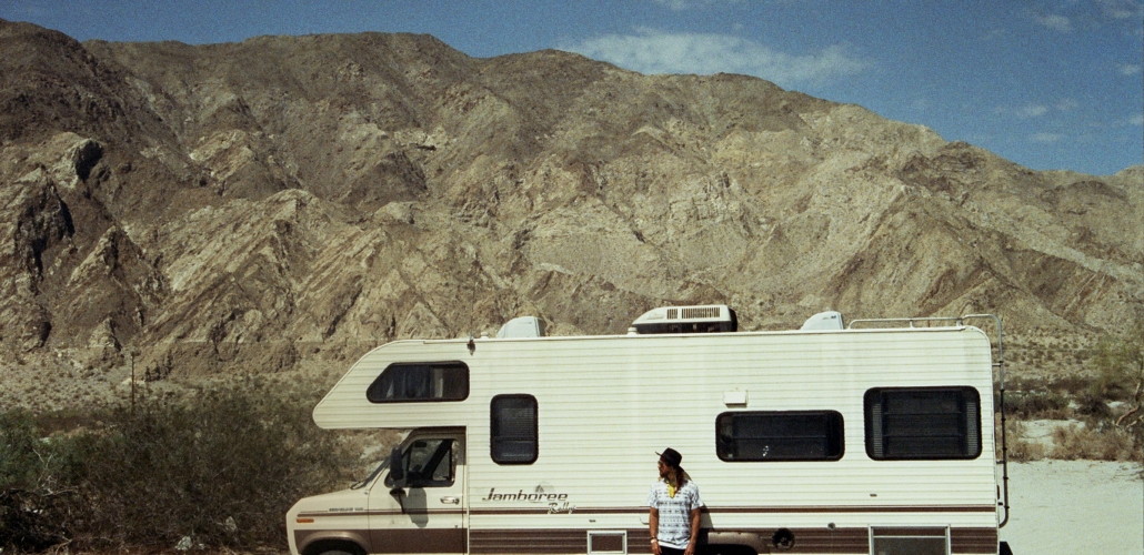 RV lifestyle in the desert