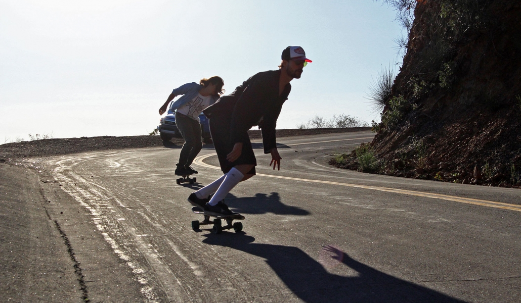 Martin and Rodrigo Skating in Malibu