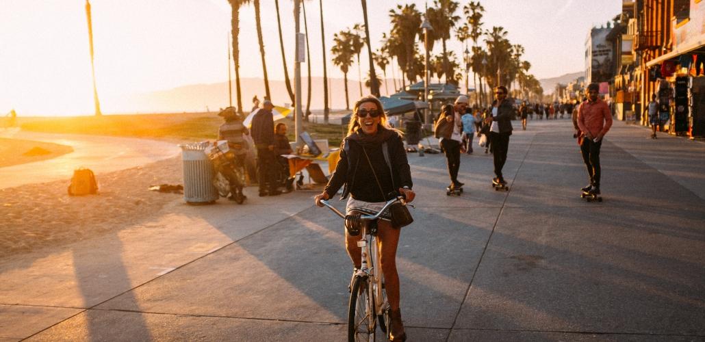 Venice Boardwalk Sunset
